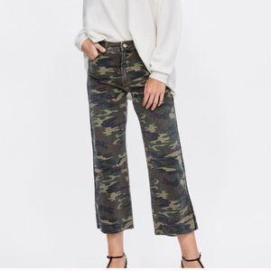 NWT Zara camo culotte